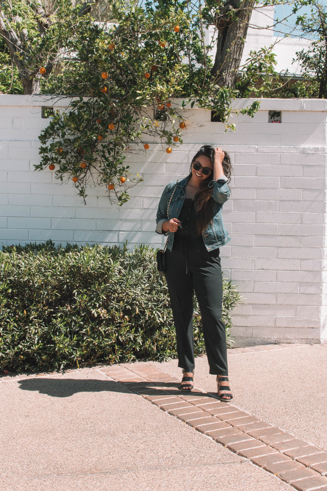 0dc41cebe6 2 Easy Ways to Style a Black Jumpsuit for Summer - Curated by Kirsten