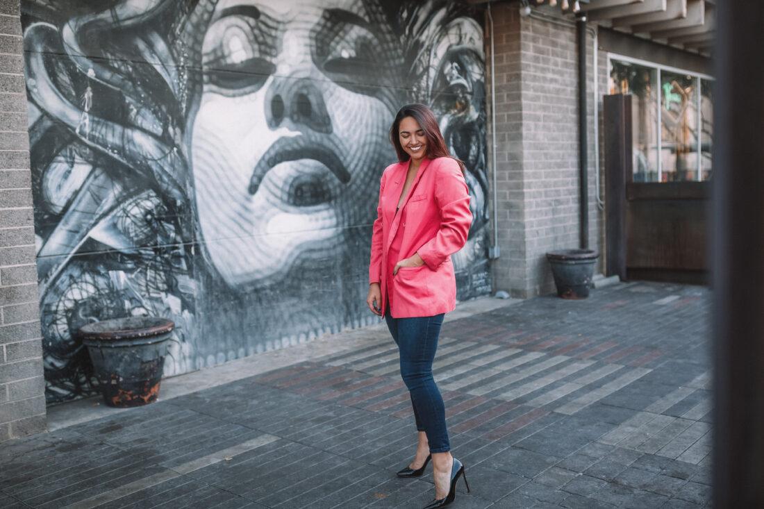 Vintage Pink Dior Oversized Blazer